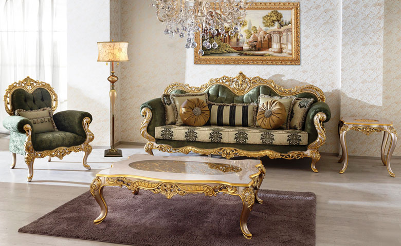 mobilya modelleri ve zümrüt yeşili dekorasyon